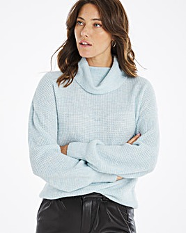 Textured Jumper With Bell Sleeve