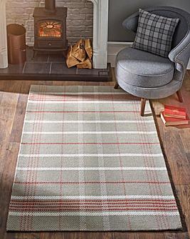Winnie Check Wool Rug Large