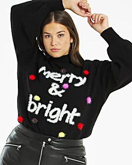 Novelty Merry & Bright Jumper