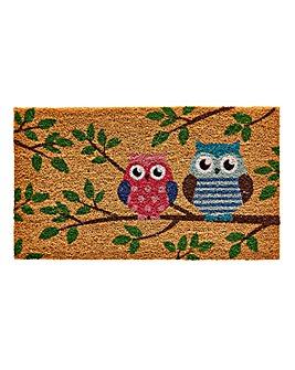 Owls Coir Doormat