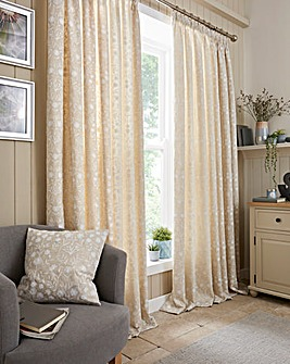Juliette Embroidered Taped Curtains