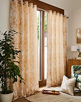 Ruby Jaquard Lined Eyelet Curtains