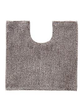 Plush Microfibre Bathmat- Flint Grey