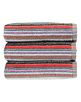 Christy Barcode Towels- Multi