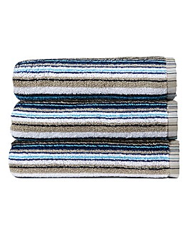 Christy Barcode Towels- Blue