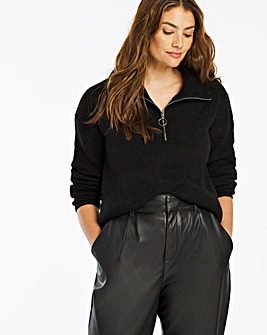 Cosy Zip Neck Jumper