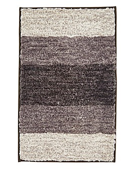 Striped Ombre Bathmat- Grey