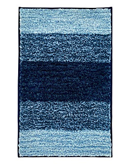 Striped Ombre Bathmat- Blue