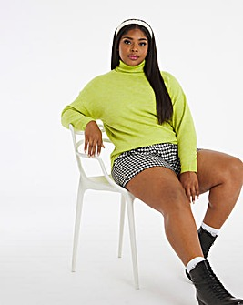 Lime Roll Neck Jumper