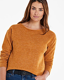 Mustard Slash Neck Tunic