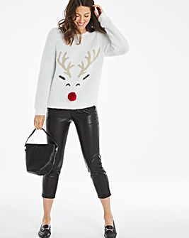 Novelty Fluffy Reindeer Jumper