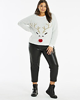 Novelty Fluffy Reindeer Jumper