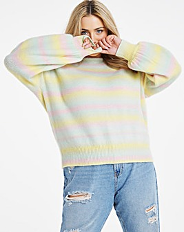 Drop Shoulder Balloon Sleeve Jumper