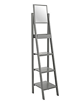 New England Ladder Shelf with Mirror