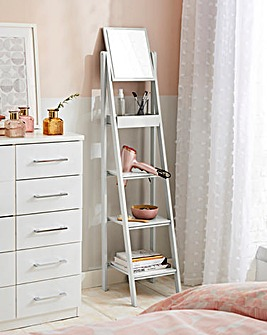 New England Ladder Shelf with Mirror