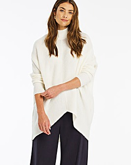 Cosy High Neck Ribbed Detail Jumper