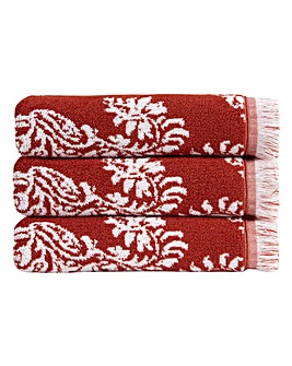 Christy Siam Towels- Cinnabar