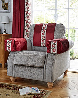 Rose Trim Velvet Chair Back