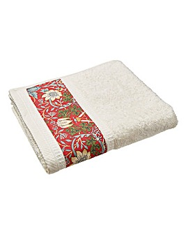 William Morris Strawberry Hand Towels