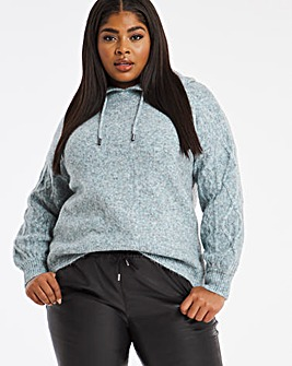 Hoody With Cable Sleeves