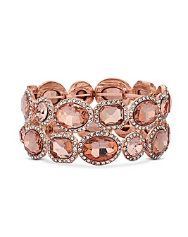 MOOD Rose Gold Halo Surround Bracelet