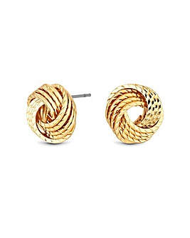 Jon Richard Gold Textured Knot Earring