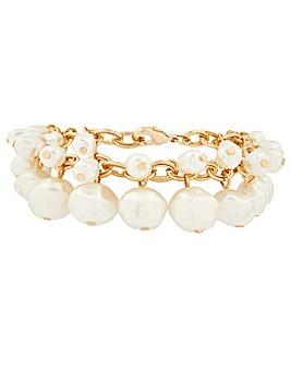 Accessorize Statement Pearl Bracelet