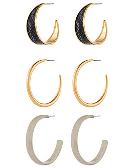 Accessorize Snake Hoop Value Set