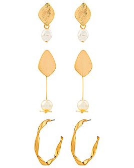 Accessorize Pearl And Hoop Value Set