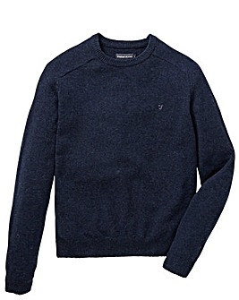 Farah Litton Lambswool Crew Jumper