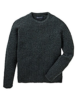 Farah Hindlow Textured Crew Jumper