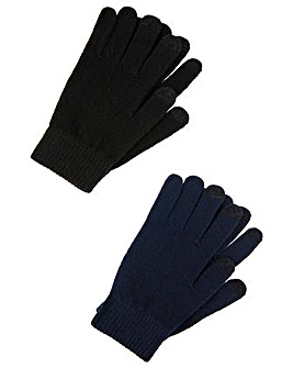 Accessorize Superstretch Touch Glove 2Pk