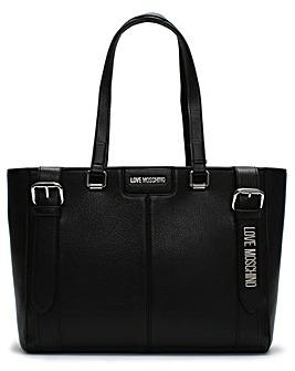 Love Moschino Belt Logo Tote Bag
