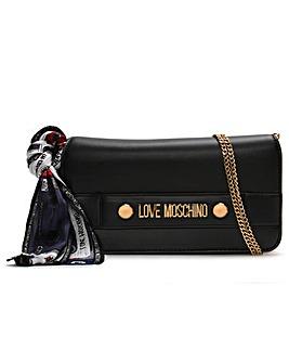 Love Moschino Handle Scarf Shoulder Bag