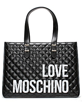 Love Moschino Quilted Logo Shopper Bag