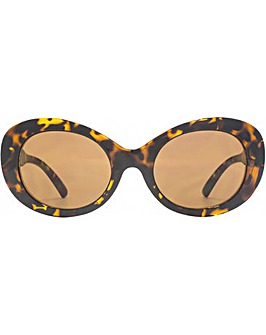 French Connection Retro Oval Sunglasses