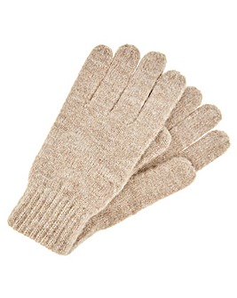Monsoon Camilla Camel Knitted Gloves