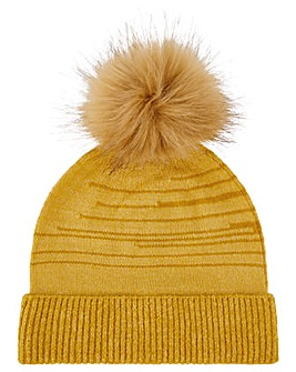 Monsoon Olwen Ochre Animal Knit Hat
