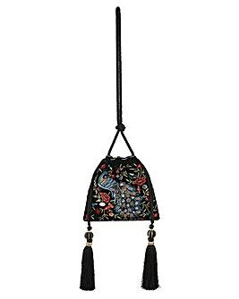 Monsoon Pippa Peacock Drawstring Bag
