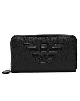 Emporio Armani Eagle Logo Zip Wallet