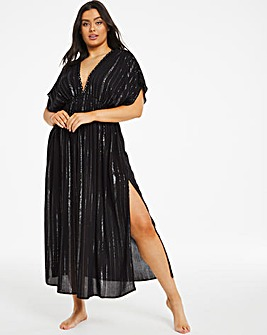 Lurex Maxi Beach Kaftan Cover Up