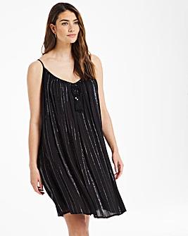Lightweight Lurex Midi Beach Dress