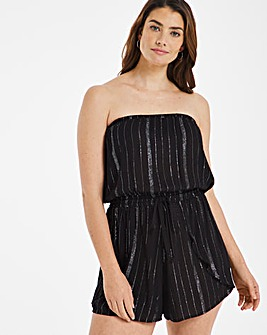 Lurex Beach Playsuit Cover Up
