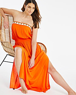 Beaded Beach Maxi Dress