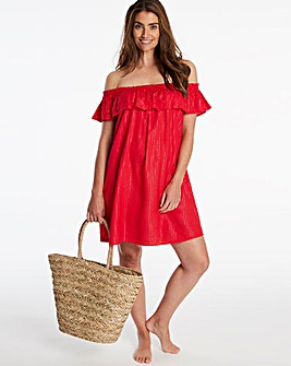 Bardot Frill Beach Dress