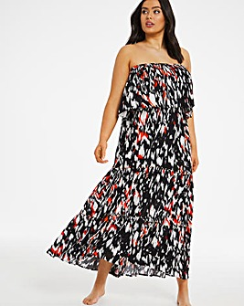 Bandeau Tiered Maxi Dress