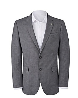 BURTON MENSWEAR LONDON TAILORED FIT TEXTURED SUIT JACKET REGULAR