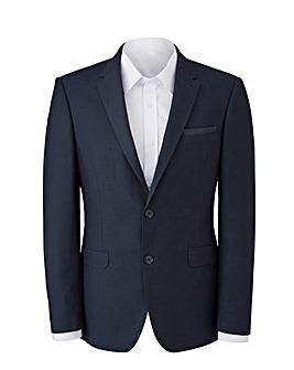 Burton Menswear London Tailored Fit Navy Pindot Jacket R