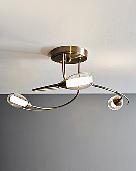 Iris 3 Light Ceiling Fitting