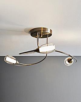 Iris 3 Light Ceiling Fitting